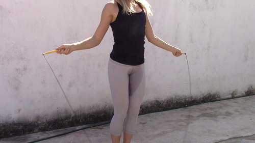 Cute Lady Pee's Her Pants While Jump Roping - Female ...