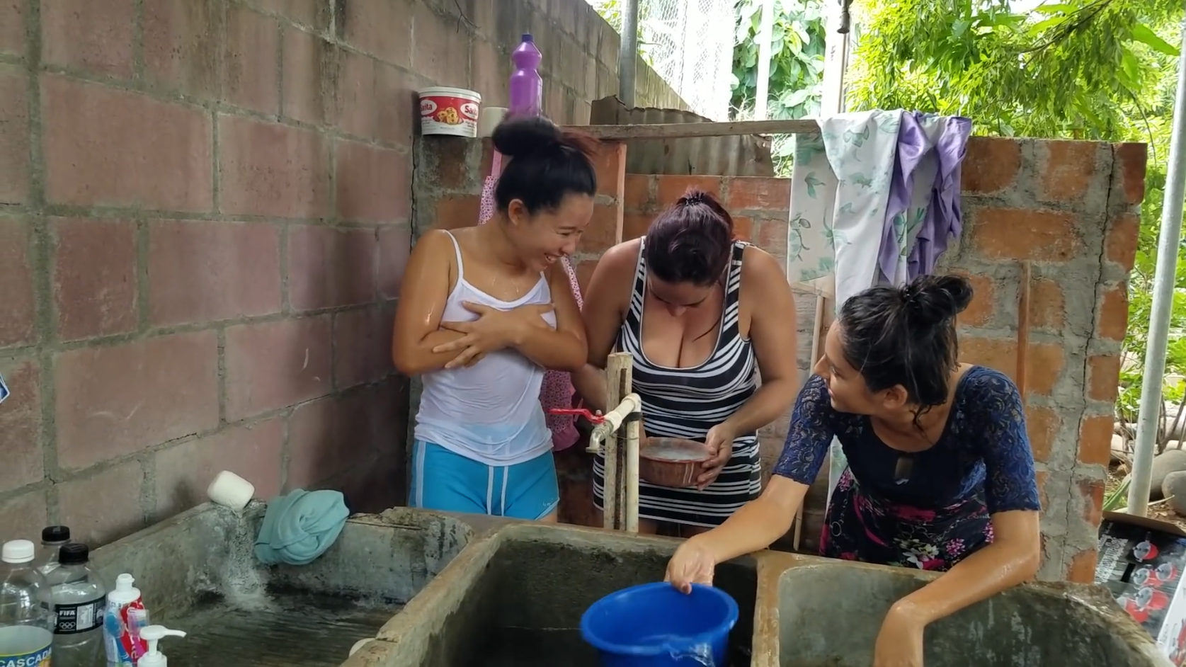 YouTube video: two women from El Salvador wetting (nudity)